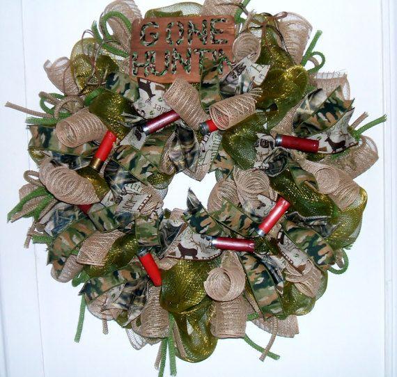 Hunting Wreath Original Design Wreath Man Cave Wreath
