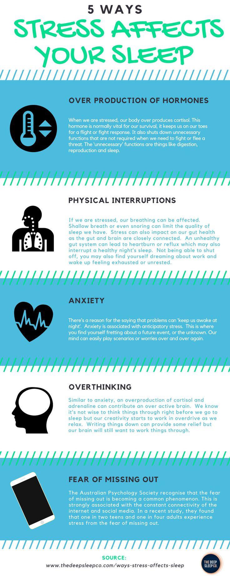 Ways that stress affects sleep. #stress #sleep
