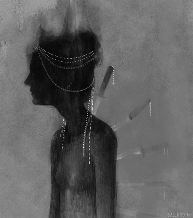 Sam Ballardini #bleaq #illustration #drawing #dark