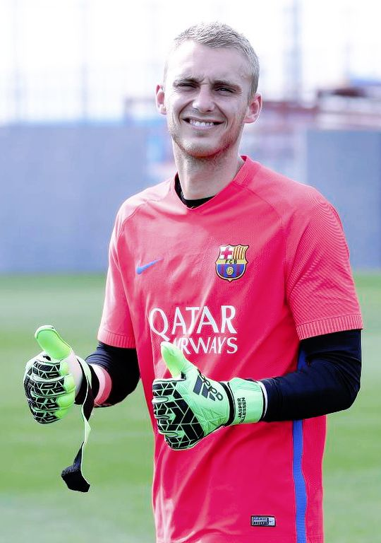 Jasper Cillessen during FC Barcelona training session 31/03/2017