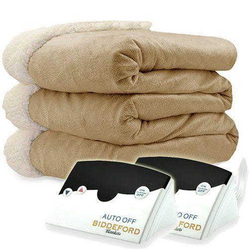 Biddeford 6004-9051136-713 Electric Heated Micro Mink/Sherpa Blanket, King, Line #Biddeford