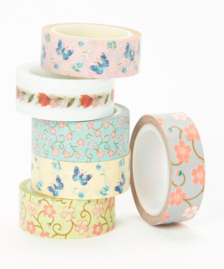 Floral Fushion Washi Tape Set