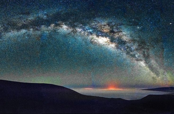 A panorama of the Milky Way from Mauna Kea, Hawaii.
