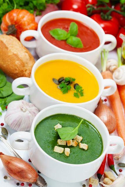 Piccolo Mondo : Zuppe: pomodoro, zucca e spinaci