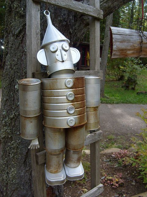 1000 images about tin man on pinterest gardens coffee for Tin man out of cans