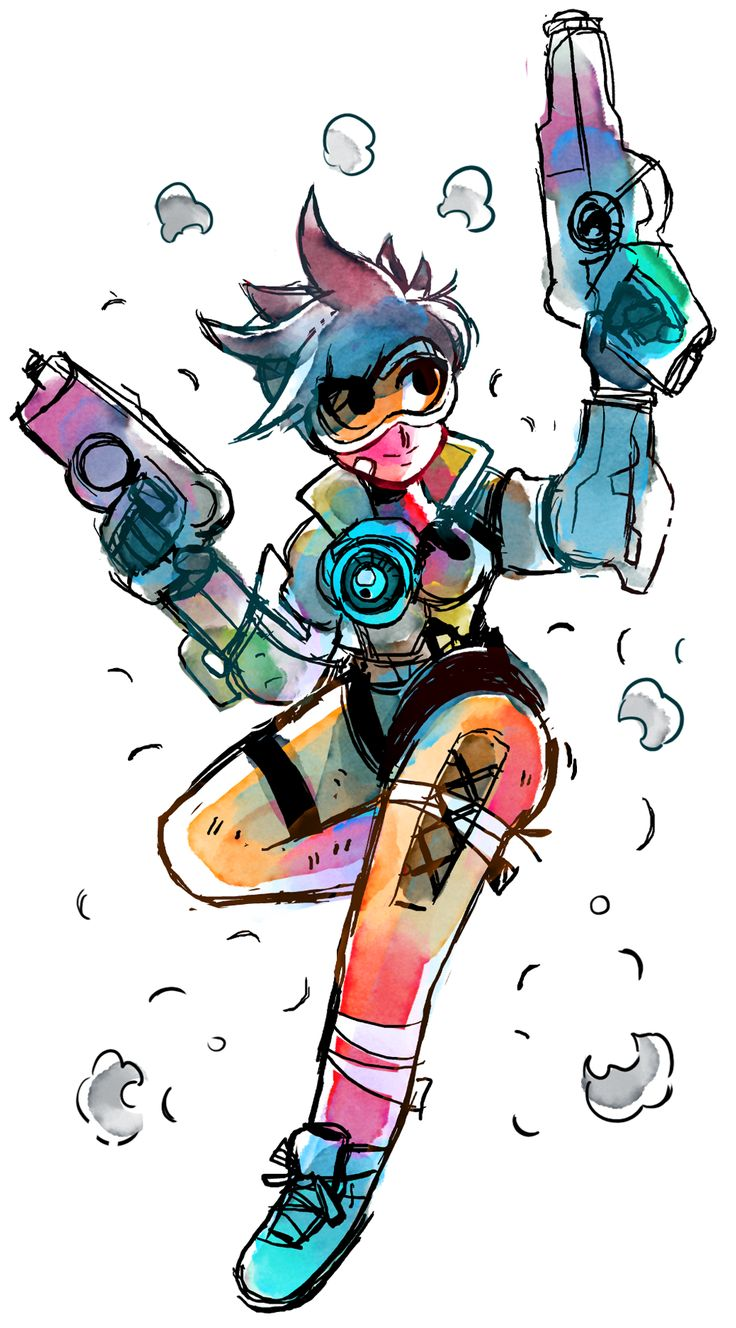 May Sketch-a-Day 16.Tracer from Overwatch! [MY BLOG ...