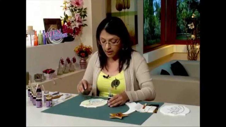 Lacas Vitrales y Texturas sobre Madera - Emilia Noguera en Bienvenidas Tv
