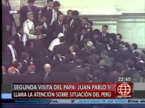 América Noticias - 220414 - Recuerde la segunda visita del papa Juan Pablo II - YouTube