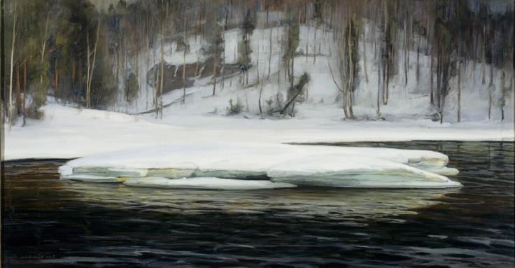Victor Westerholm  (1860–1919): Valley on the Kymi River, 1901