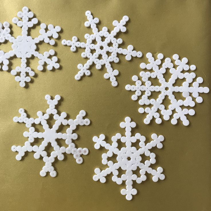 Snowflakes from hama beads