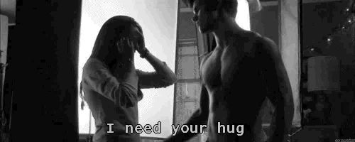 i need your love black and white gif