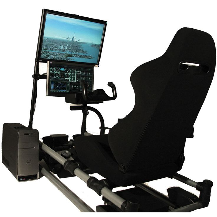 The Cockpit Flight Simulator - Hammacher Schlemmer. hubby would die to get this