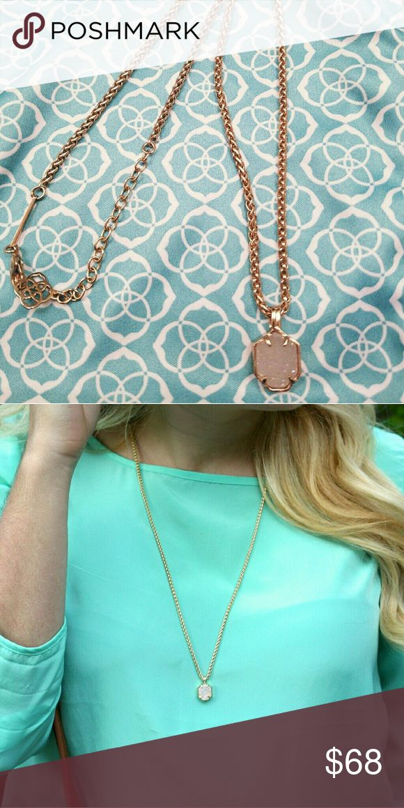 *SOLD* Rose Gold / Drusy Oliver EUC Kendra Scott Jewelry Necklaces