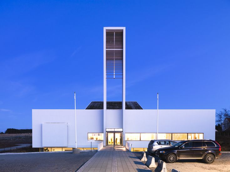From Archello- LINK arkitektur. Froeyland Orstad Church. Hundven-Clements Photography.