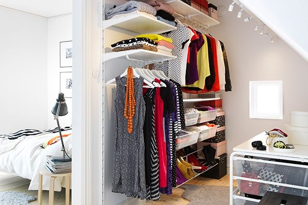 Closet Organizing Ideas Ikea Algot Bedroom Storage Loft Room