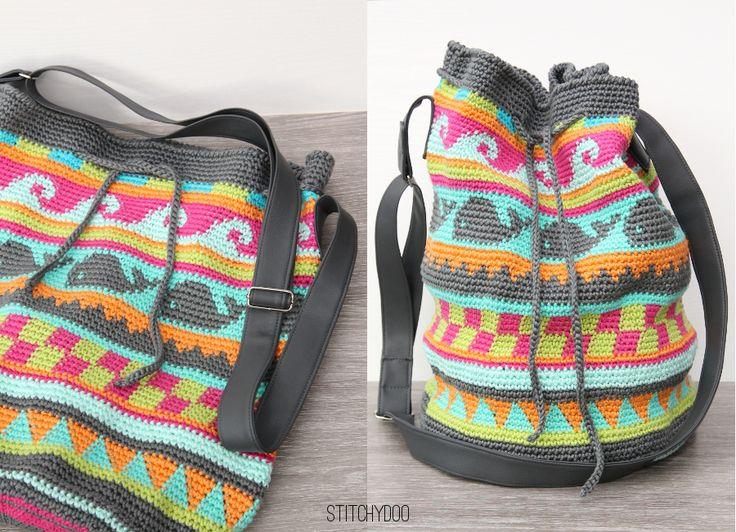 stitchydoo: Taschen Crochetalong | Meine gehäkelte Tapestry-Tasche // crochet bag // Häkeltasche // Mochila bag