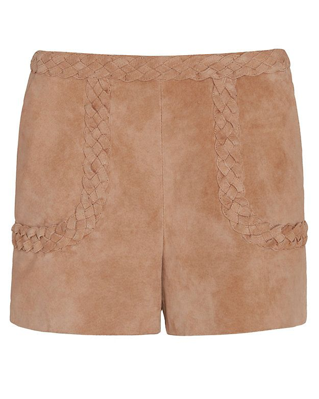 Exclusive for Intermix Julius Braided Detail Suede Shorts: A statement in suede…