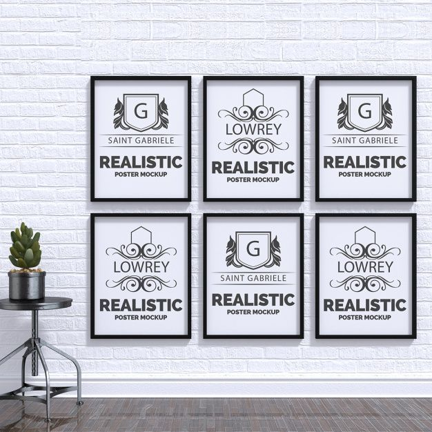 Realistic poster mock up Free Psd