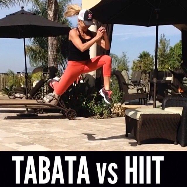 #TABATA vs #HIIT ---- Whats the difference?  ANSWER: level of  intensity and duration of each interval  The first two exercises in this video are ideal TABATA drills for me. The 2nd two drills are great hit exercises for me These short, intense workouts provide improved athletic capacity and condition, improved glucose metabolism, and upto 9x more fat burning then steady state cardio wheth…