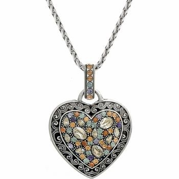 Brighton Crystal Voyage Heart Necklace Brighton