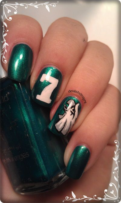 Eagles Football Nail Art