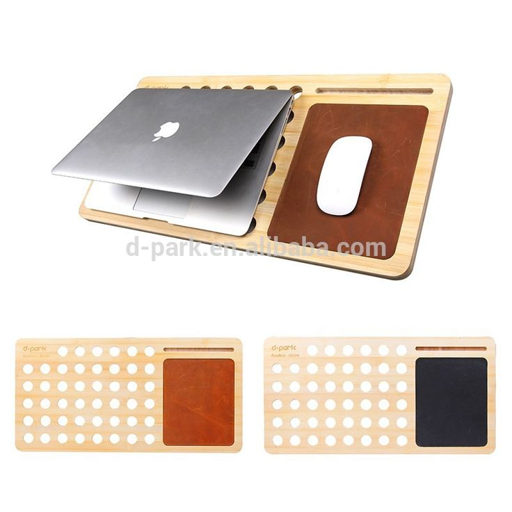 D-park with free leather mouse pad bamboo tablet pc laptop cooler cooling pad