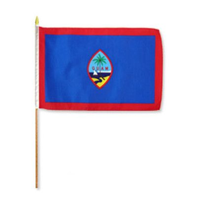 FlagsImporter Guam Traditional Flag and Flagpole Set