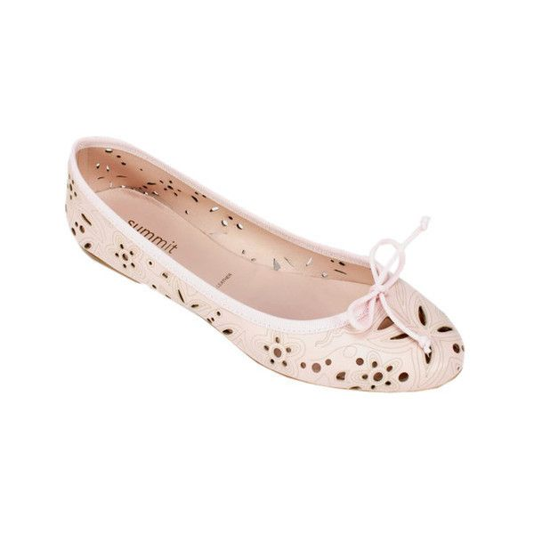 Women's Summit White Mountain Koral Ballet Flat ($139) ❤ liked on Polyvore featuring shoes, flats, ballet flats, casual, pink, bow ballet flats, floral ballet flats, ballet shoes, round toe flats and ballet pumps
