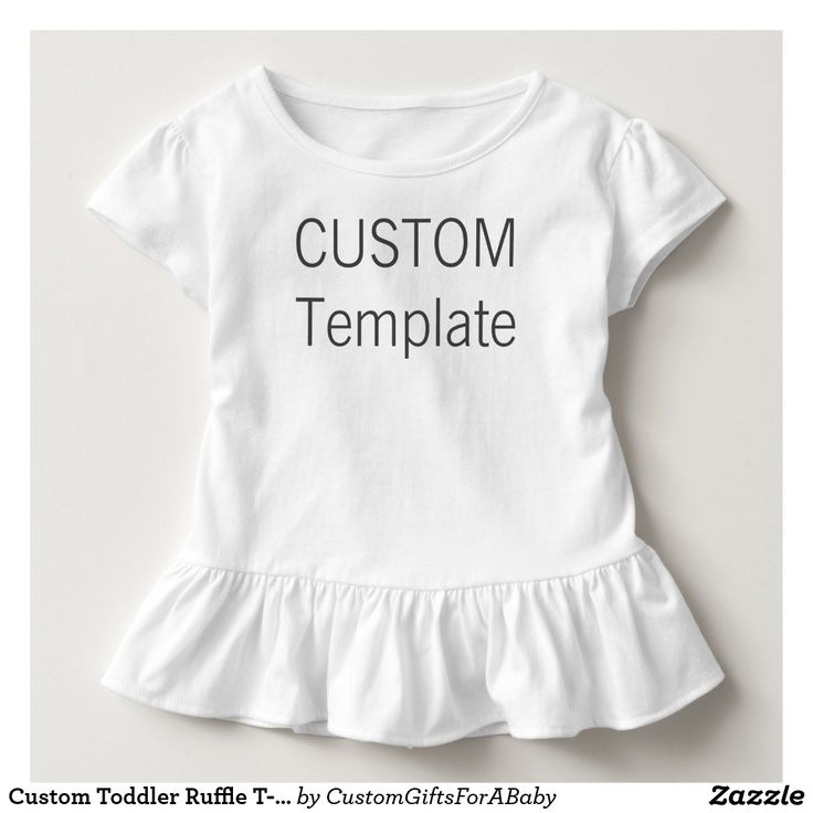 Custom Toddler Ruffle T-Shirt Blank Template