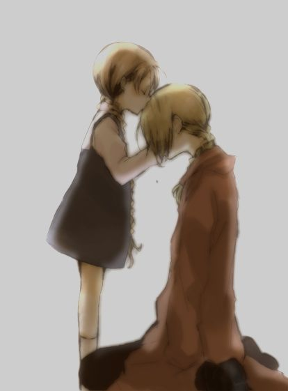 Nina Tucker and Edward Elric:  he's forever plagued by the little girl he couldn't save.