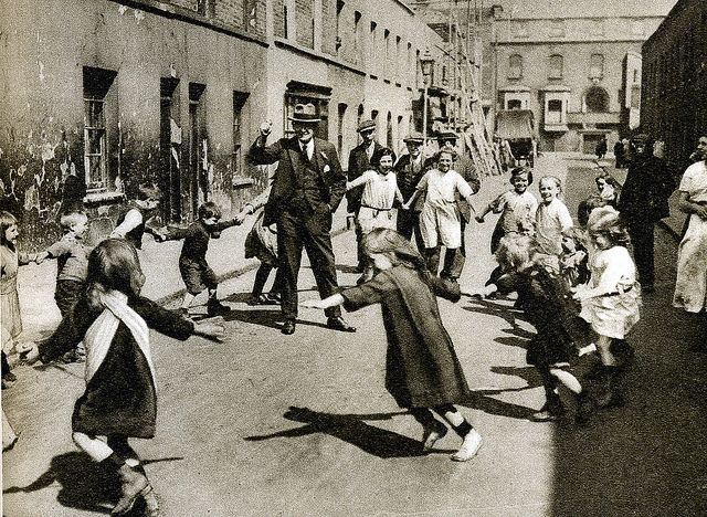 London in the 1920's ~ Children at play in the street ~