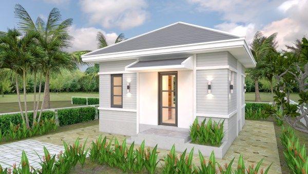 Studio House Plans 6x8 Hip Roof Tiny House Design 3d Small House Design Plans One Bedroom House Plans One Bedroom House