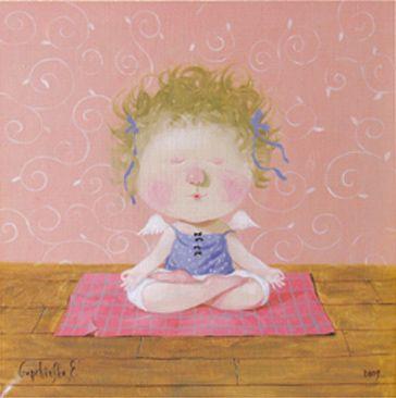 Yoga for Angels, illustrated by Evgenia Gapchinska