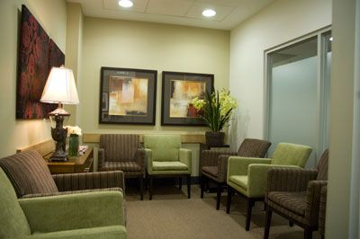Medical office waiting room coordinated with Green and brown. Make feel better! #medicalofficefurniture