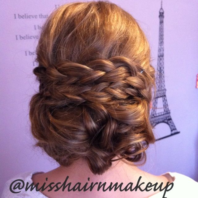Wedding Hairstyles For Jr Bridesmaids: French Braid Updo That I Did Today For A Junior Bridesmaid