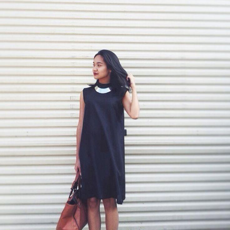 @karina.saras spotting an #NFRTLOOK wearing our turtleneck Jani dress. Jani now available online at shopnefertiti.com.