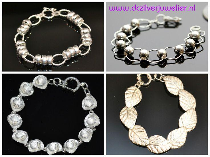 Het perfecte kerstcadeau Stijlvolle zilveren armbanden. Gratis verzending in Nederland!