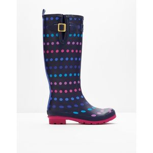 SALE! Joules Welly Print - Navy Multi