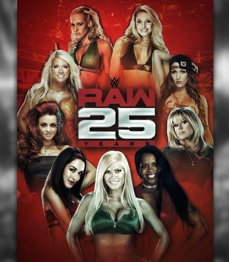 Raw 25: Michelle McCool, Trish Stratus, KellyKelly, Maria Kanellis, Brie Bella, Torrie Wilson, Jacqueline, Terri Runnels & Nikki Bella