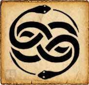 Wuivre - Símbolos celtas - Es un símbolo celta representado por dos serpientes entrelazadas entre sí, que simbolizan la fuerza de la tierra. Según dicen proporciona amor y poder al que lo posea, siempre que no sea tocado por agua de mar.