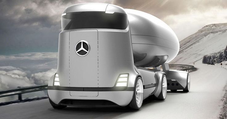 Mercedes-Benz E-Truck Render Is Genuinely Future-Proof #Concepts #Electric_Vehicles
