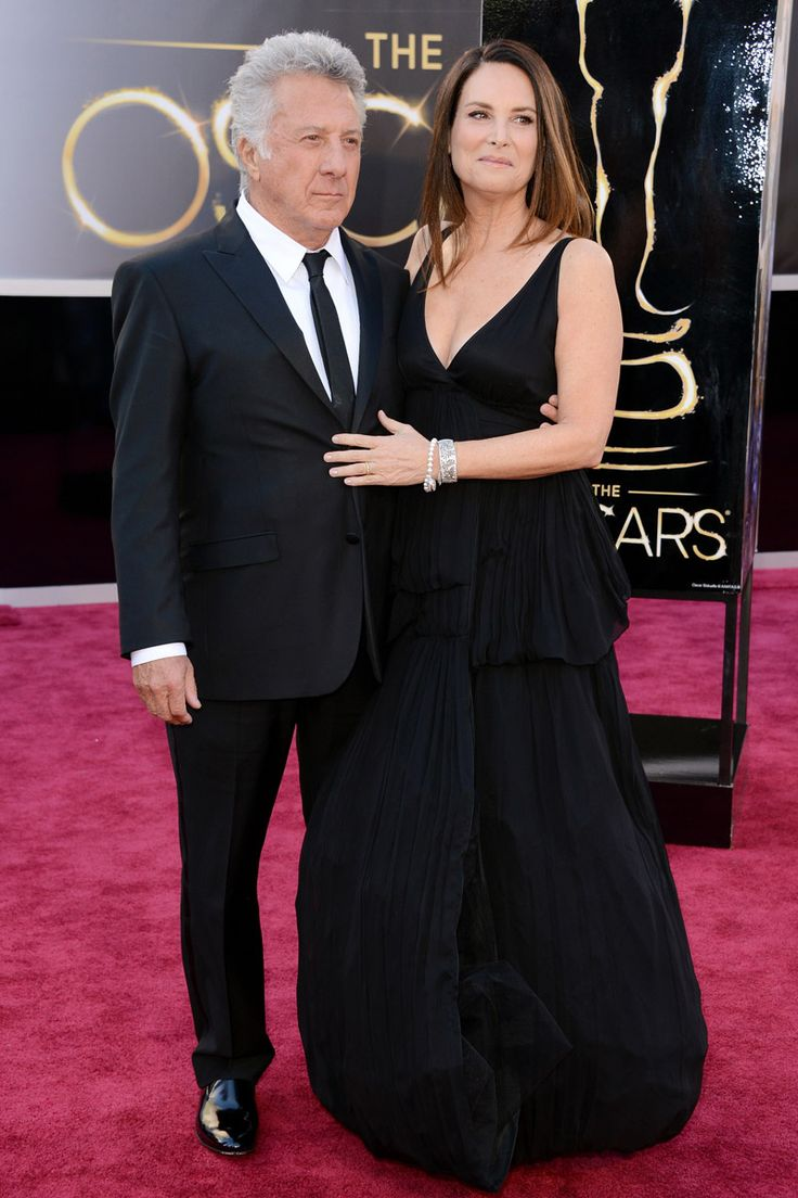 Todas las imágenes de celebrities y alfombra roja de los Oscars 2013: Dustin Hoffman y Lisa Hoffman