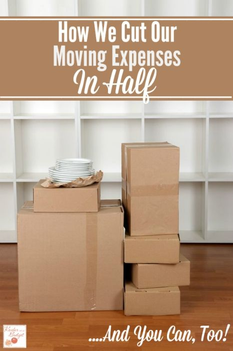 How We Cut Our Moving Expenses In Half - And You Can, Too! Learn how this family of five cut their moving expenses from nearly $10,000 to under $5,000. And no, they didn't have to drive a UHaul truck!