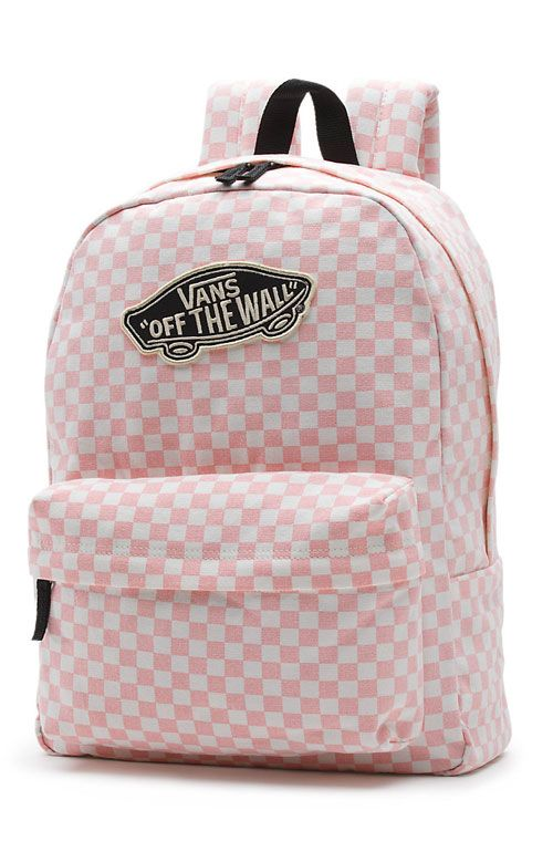 17e0d68ead1 Vans Womens, Checkerboard Backpack - Peach Skin - Apparel - MOOSE Limited    PINK IS THE NEW BLACK in 2019   Pinterest   Backpacks, Vans backpack and  Vans ...