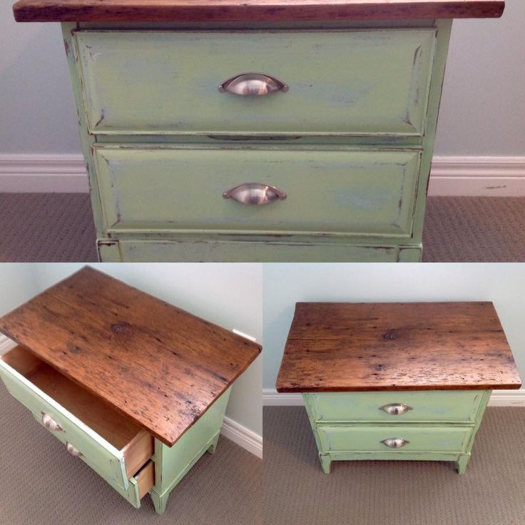 Lovely night stand finished with barn board top