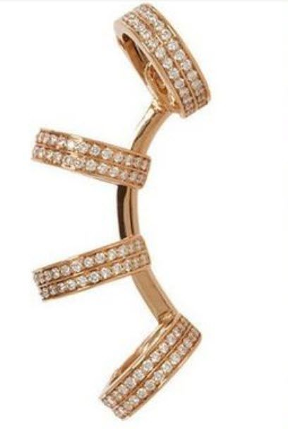 Heather: Seen worn by Miley Cyrus, this earring requires no piercings but looks incredible on.