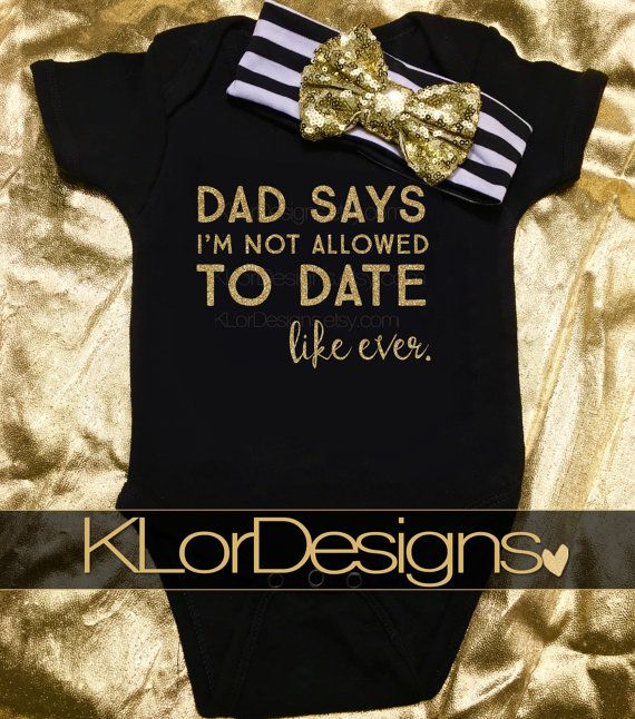 baby girl onesie Daddys Girl Onesie Dad says I am by KLorDesigns