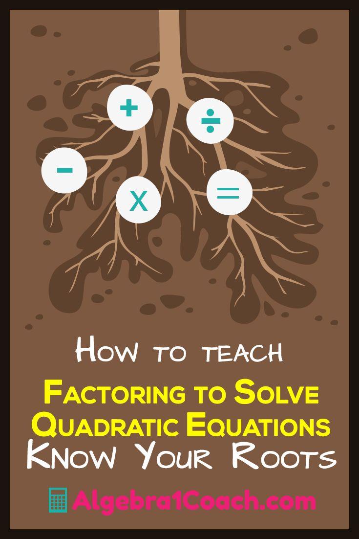 Factoring to Solve Quadratic Equations | Algebra 1 | Factoring | Quadratic Equations