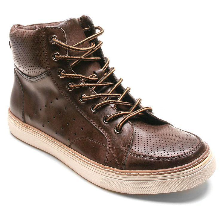Banana Blues Men's High-Top Sneakers, Size: 12, Brown