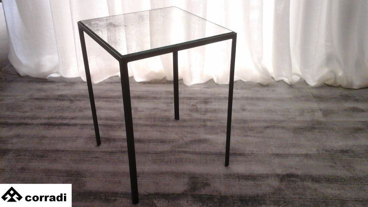 Design table by Notre Monde Iron and mirror antiqued Cm. 30 x 30 Height cm. 42 Color black Price € 170.00